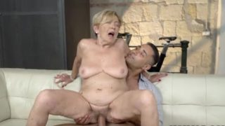 Kinky Old Chubby GILF Malya Gets To Hop On A Young Dudes Hard Cock