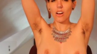 Sexy Home Videos Of A Horny Booby Girl Showing Her Hairy Armpits